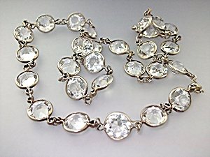 Necklace Rock Crystal Antique Silver Links