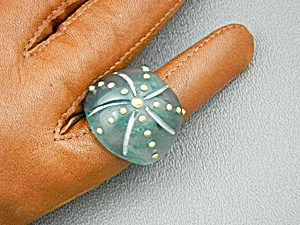 Lucite Aqua Gold Marc Jacobs Ring