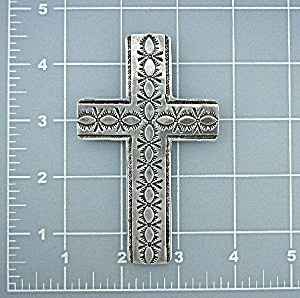 Surrisi Sterling Silver Studio Gl Cross 1993 4 Inches