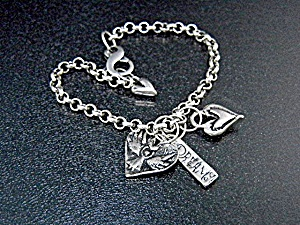 Jess Maharry Sterling Silver Dreams Charm Bracelet