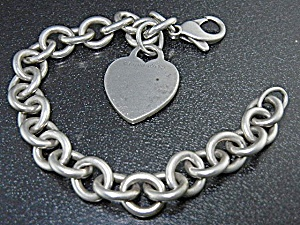 Tiffany & Co Sterling Silver Heart Bracelet