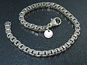Tiffany & Co. Sterling Silver Box Link Bracelet