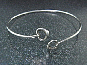 Tiffany & Co Peretti Sterling Silver Hearts Bracelet