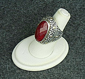 18k Gold Sterling Silver Ruby Ring Samuel Benham
