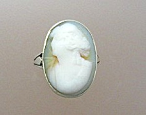 Ring 14k Gold Shell Cameo High Set