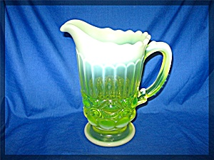 Vaseling Glass Pitcher 8 Inch