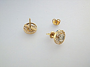 Earrings 14k Gold And Diamond Pierced Usa