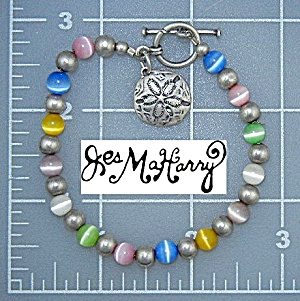 Jess Maharry Sterling Silver Beaded Toggle Bracelet