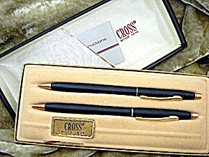 Cross Pen Pencil Set Black Original Box