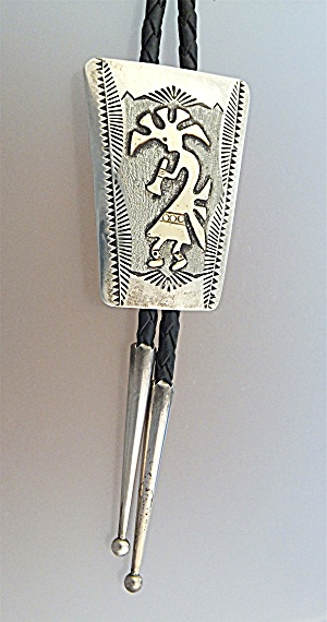 Bolo Tie Sterling Silver 12k Gf Leather Randall Begay