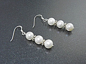 Freshwater Pearls Sterling Silver Shepherd Hook Earring