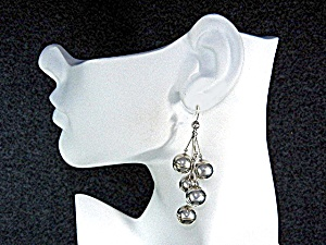Sterling Silver 10mm Silver Balls Shepherd Hook Earring