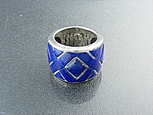 Lapis Sterling Silver Ring From Peyote Bird