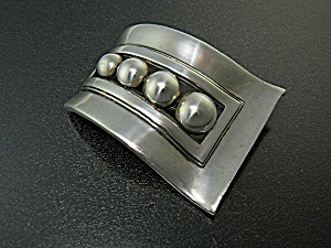 Brooch Pin Sterling Silver Signed Bl Taxco Mexico