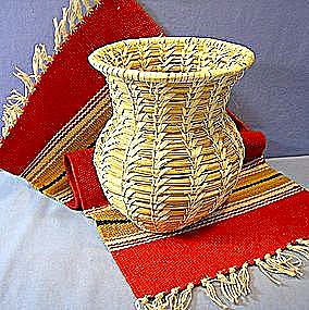 Papago American Indian Basket Tohono O'odham Basket