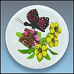 Ken Rosenfeld 2006: Butterfly And Floral Paperweight