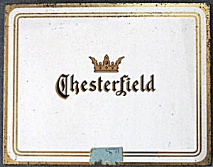 Vintage Chesterfield Hinged Cigarette Tin