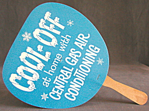 Cool Off Central Gas Advertising Cardboard Fan