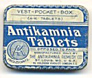 Rare Antikamnia Tablets Vest-pocket Size Tin