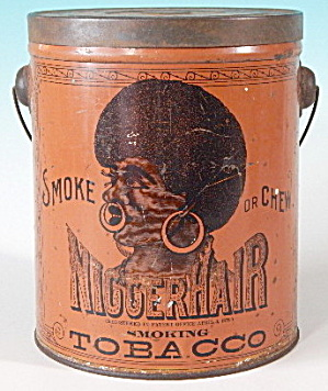 Antique Nigger Hair Tobacco Tin Rare