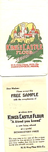 King's Castle Flour Sample Size Flour Sack