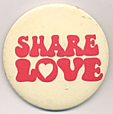 Share Love Canada Dry Ginger Ale Pinback