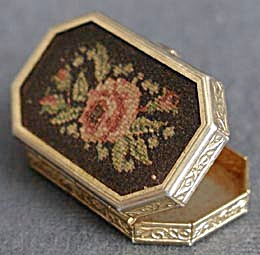 Vintage Avon Petit Point Pill Box