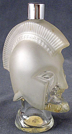 Vintage Avon Glass Trojan Warrior Head