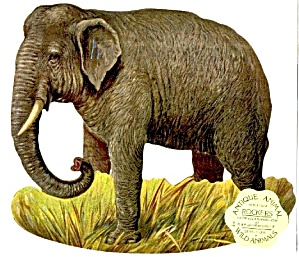 Antique Reproduction Elephant Rocker Card