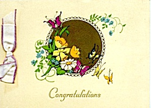 Vintage Congratulations Card Butterflies
