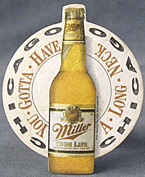 Beer Coaster Paw Miller Long Neck
