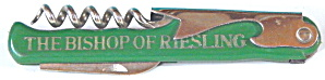 R M wines/the Bishop Of Riesling Bottle Opener Corkscre
