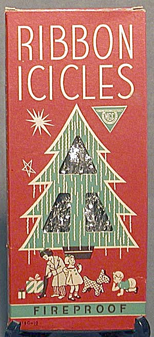 Vintage Ribbon Icicles In Original Box
