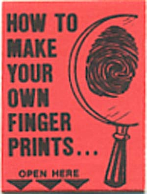 Cracker Jack Toy:red How To Make Your Own Finger Prints
