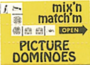 Cracker Jack Toy: Mix'n & Match'm Picture Dominoes Mint