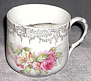 Vintage Wild Roses Mustache Cup