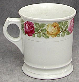 Vintage German Shaving Mug With Multi Colored Roses
