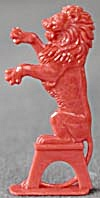 Cracker Jack Toy Prize: Circus Lion Sitting On A Stand