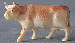 Vintage Celluloid Toy Cows Set Of 3