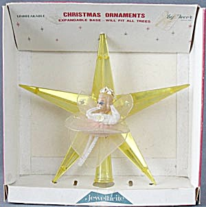 Vintage Plastic Star & Angel Tree Topper
