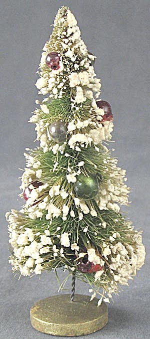 Vintage Bottle Brush Christmas Tree Tiny Beads