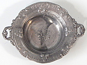 Vintage Dollhouse Miniature Pewter Bowl Germany