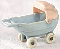 Vintage Dollhouse Plastic Baby Carriage