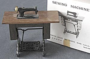 Vintage Dollhouse Wooden Sewing Machine