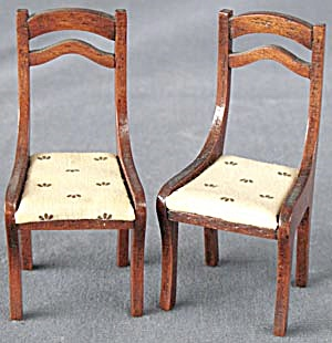 Vintage Dollhouse Dinning Room Chairs Set Of 2