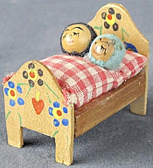 Vintage Swedish Bed With Couple