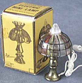 Vintage Dollhouse Stained Glass Lamp