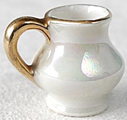 Vintage Dollhouse Pearlescent Mini Pitcher