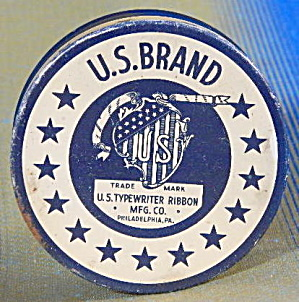 Vintage U.s. Brand Typewriter Ribbon Tin