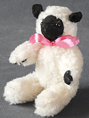 Vintage Fuzzy Jointed Lamb